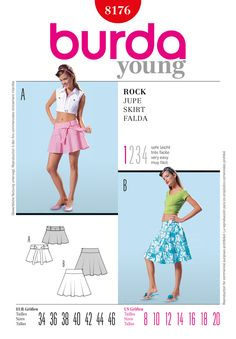 Simplicity Creative Group - Burda Style, Skirt, pattern B8176