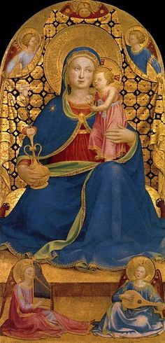 Fra Angelico (Italian, ca.1395-1455) ~ Madonna dell'Umiltà (Madonna of Humility) ~ 1433-1435 ~ Renaissance italienne ~ Musée National d'Art de Catalogne, Barcelone (Espagne)