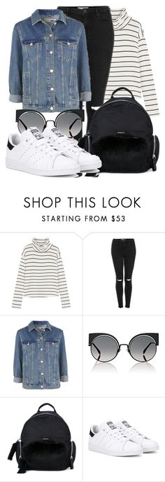 """""""Untitled #3927"""" by beatrizvilar on Polyvore featuring Splendid, Topshop, Fendi, Moncler and adidas Originals"""