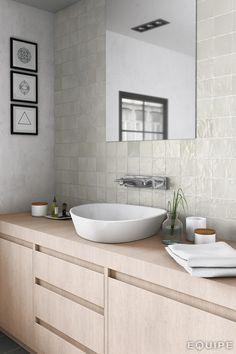 MALLORCA By EQUIPE CERAMICAS Cream Bathroom, Mold In Bathroom, Master Bathroom, Minimalist Bathroom Design, Bathroom Interior Design, Modern Minimalist, Kitchen Wall Tiles, Ceramic Wall Tiles, Ceramic Tile Bathrooms