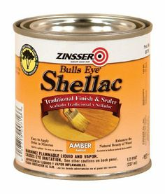 Rust-Oleum 716 1/2-Pint Bulls Eye Amber Shellac by Rustoleum. Save 40 Off!. $5.43. From the Manufacturer                Bulls Eye Shellac is an alcohol-based solution of lac, a natural resin. Amber shellac has a warm, orange cast that gives a rich, antique-look to woodwork. Offers many advantages over other clear finishes: it's easy to use, dries quickly, is non-toxic when dry and cleans up easily with ammonia and water.                                    Product Description      ...