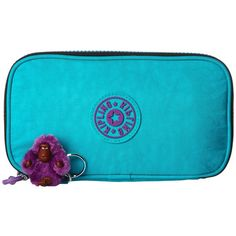 kipling kay pencil case cool turquoise wallet 39 liked on polyvore home decor office accessoriespencil