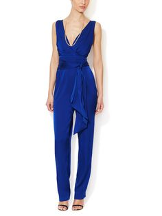 Catherine Malandrino's silk belted jumpsuit