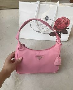 Luxury Purses, Luxury Bags, Luxury Handbags, Pink Prada Bag, Baguette, Aesthetic Bags, Vetement Fashion, Cute Purses, Little Bag