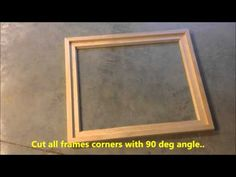 DIY Creating Your Own Floating Frame For Canvas - YouTube                                                                                                                                                                                 More