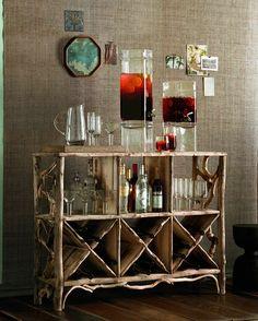 back porch bar Home Bar Sets, Bar Set Up, Bars For Home, Porch Bar, Living Comedor, Cozy House, Sweet Home, House Design, Rustic