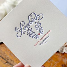 Hand Lettering by Cass Deller. Letterpress and photography by Bespoke Letterpress.
