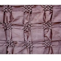Square Smocking - structural fabric manipulation to create a decorative surface pattern & 3D textures; creative sewing #textiles