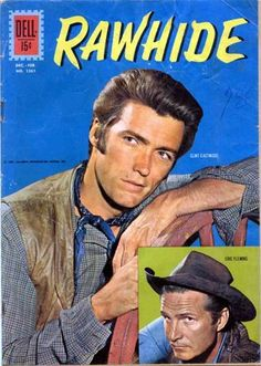 An area for all things Rowdy and dedicated to our favourite TV western, Rawhide! Rawhide is an American Western series that aired for eigh. Old Comic Books, Vintage Comic Books, Vintage Tv, Comic Book Covers, Vintage Comics, Clint Eastwood, Classic Comics, Classic Tv, Caricature