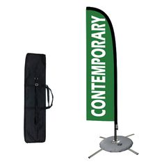 Business Ad Swooper Flutter Feather Flags /& Poles 2 Pack-Sale-Open