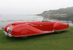 1948 Delahaye 135 M Figoni et Falaschi Cabriolet Narval, posted on Vintage Collection of Old Classic Cars via angelfire.com