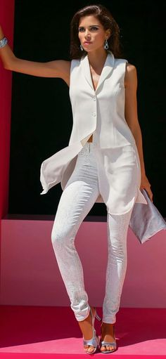 MADELEINE WHITE JEANS and TUNIC