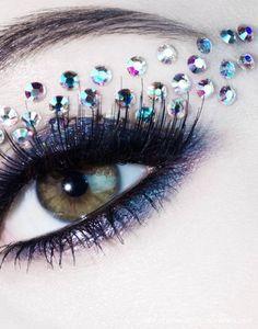Rhinestone Makeup | 30pcs Rhinestone Eyeliner Sticker Eyeshadow Tattoos Makeup Tools Free ...