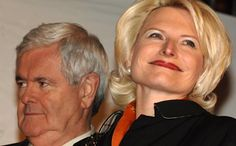Image #: 7610304 Newt Gingrich and wife Callista attend the New York City Tea Party