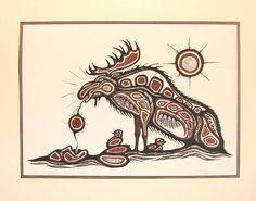 National Aboriginal Day — Daily Art Fixx - a little art, every day Art Haïda, Jr Art, Native American Symbols, Native American Artists, Totems, National Aboriginal Day, Deer Skull Art, Kunst Der Aborigines, Buffalo Art