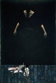 ロバート・ハインデル 《ダンサー イン ザ ブラック オン ブラック》1985年 (C) Robert Heindel
