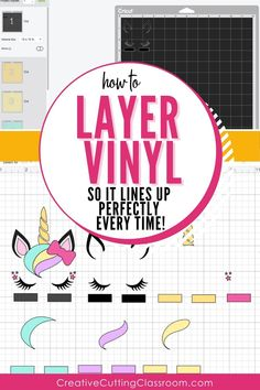 How to layer vinyl so it lines up perfectly! #Cricut #CricutMaker #CricutExplore #CricutJoy #CricutDesignSpace #CricutProjects #CricutTutorial #LayerVinyl #Vinyl #CricutVinyl #LayerVinylDecals #LayerVinylCricut #VinylDecals #VinylCrafts Cricut Iron On Vinyl, Cricut Htv, Cricut Explore Projects, Cricut Vinyl Projects, Vinyl Crafts, Diy Arts And Crafts, Cricut Tutorials, Cricut Ideas, Cricut Design Studio