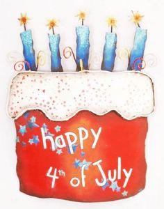 4th Of July Door Hanger Round