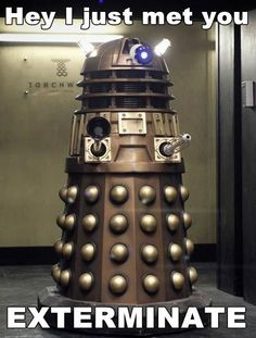 Imagine a cover band called The Doctor and the Daleks #doctorwho