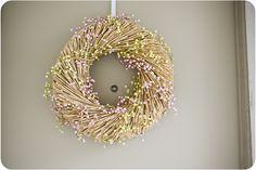 my diy wreath!