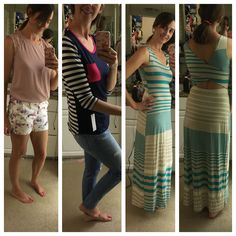 Stitch fix May 2016 birthday fix keepers. I love the level 99 cindie printed shorts- they match so many things in my closet! Loveappella pola pocket knit top is so soft and so fun! Love the pink. And the teal gilli Mitchel knit maxi is great. I love the modest back cutout and fun stripes