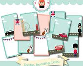London Journaling Card Kit by Sarah Hurley - digi & printable - scrapbooking / project life / journal / smash