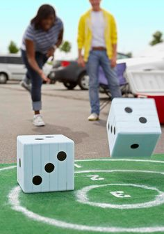 37 Ridiculously Easy Back-to-School Event Hacks for PTOs - PTO Today. Make giant dice Dice Games, Activity Games, Lawn Games, Backyard Games, Outdoor Games, Backyard Kids, Garden Games, Outdoor Toys, Outdoor Ideas