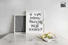 """Grafika ZASADY"""" w ramie ściennej - MojoGraffi - Wydruki cyfrowe"""
