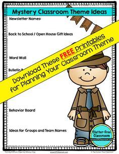 Are you planning a Mystery Detective themed classroom or thematic unit? This…