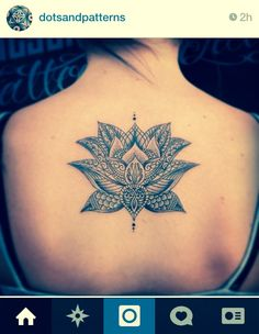 @dotsandpatterns #instagram love this lotus flower tattoo