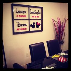 Cute idea - You could probably cut the vinyl with a Cricut to make your own #disney_crafts_for_home