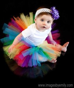 Rainbow Tutu  12-24 months 2T 3T 4T. $20,00, via Etsy.
