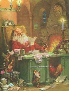 Old Christmas Post Сards — Santa Claus Vintage Christmas Images, Old Fashioned Christmas, Christmas Scenes, Santa Christmas, Father Christmas, Vintage Holiday, Christmas Pictures, Winter Christmas, Christmas Letters