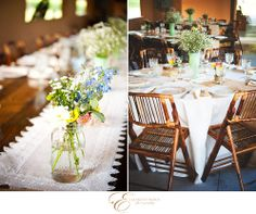 Elizabeth Nord Photography, Chicago wedding photographer, wedding in Inverness Florida at Lakeside Ranch, details, unique, fun, elegant, porch swing, guest sign in, buggy, centerpiece, mason jars, wooden chairs, table