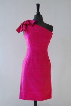 Szabovszki terméke. Pink koktélruha One Shoulder, Shoulder Dress, Pink, Dresses, Fashion, Vestidos, Moda, Fashion Styles, Dress
