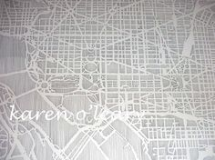 Etsy print of DC map, pen and paper.