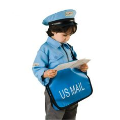For realistic role play, this Mail Carrier career outfit fits most children 3 to 6 yrs. of age. Jacket is machine washable and has easy slip-on, hook and loop closures. Career Exploration, 6 Years, Classroom, Children, Age, Sports, Role Play, Outfits, Jacket