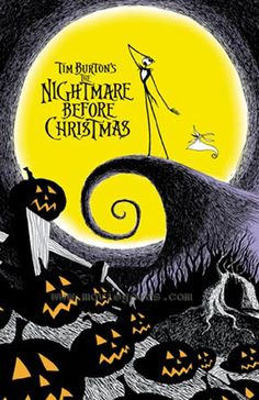 The Nightmare Before Christmas , starring Danny Elfman, Chris Sarandon, Catherine O'Hara, William Hickey. Jack Skellington, king of Halloweentown, discovers Christmas Town, but doesn't quite understand the concept. #Animation #Family #Fantasy #Musical