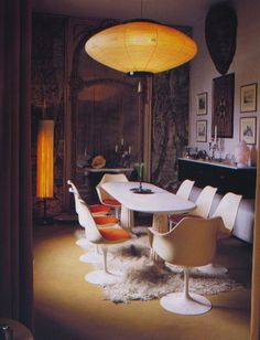 eclectic, I love the lamp and the whole mix, it's Casa Molino