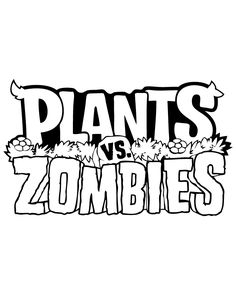 Plants Vs Zombies Logo Coloring Page