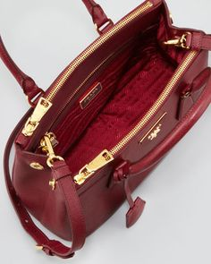 Handbags and the history behind them.: Prada Saffiano Lux tote ...