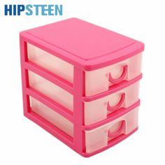 HIPSTEEN Candy Color Three Layers Mini Draw-out Desk Storage Box Container #Affiliate