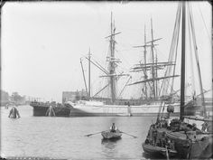 Westerdok, Amsterdam 1891. Foto: Jacob Olie