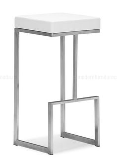 The Zuo Modern Darwen Bar Stool - Set of 2 is an evolution of style. This bar stool has an ultra-modern angular frame made of polished stainless. Cool Bar Stools, Modern Bar Stools, Counter Stools, Kitchen Stools, Iron Furniture, Furniture Design, Welded Furniture, Furniture Market, Furniture Online