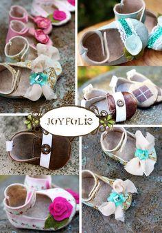 Joyfolie Boy and Girl Baby Shoe / Bootie Pattern PDF by JoyFolie, $9.99