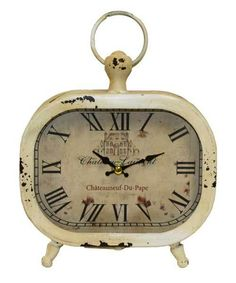 Chateau Laurent Rustic French Country Table Clock
