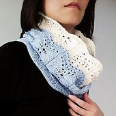 Ravelry: Iris - fern lace loop scarf pattern by Vicky Chan