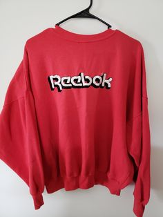 Vintage 80 s Reebok Embroidered Crewneck Sweatshirt - Size XL Graphic Shirt  Trendy Old School Classic Throwback Retro 1a685ce40