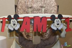 Mickey Mouse High Chair Banner by LoopyHeads on Etsy