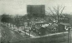 Michigan Central Station before Roosevelt park was built, 1915